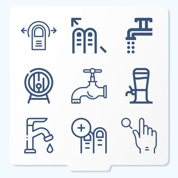 Simple set of 9 icons related to exploiting