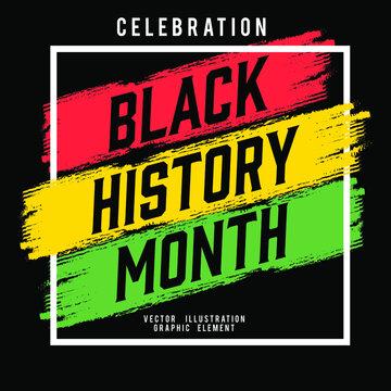 black history month celebration element vector illustration
