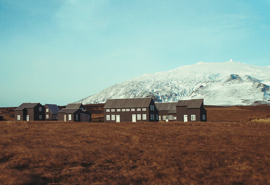 Traditional houses in countryside, Iceland