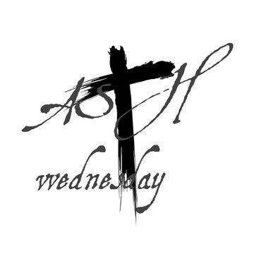 Ash Wednesday cards design