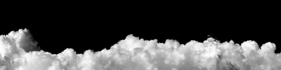 Fototapeta white cloud on black background