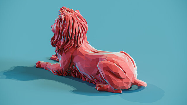 Lion Low Poly Papercraft