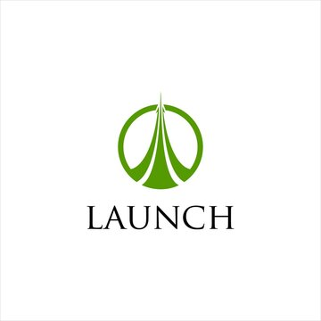 Launch Pad Logo Design.Startup Management or Road Solution Vector