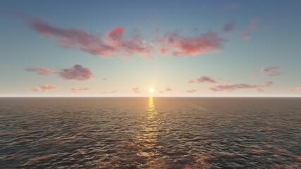 바다 위 해 Fotobehang