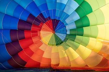 Full Frame Shot Of Multi Colored Hot Air Balloons
