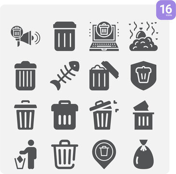 Simple set of tear apart related filled icons.