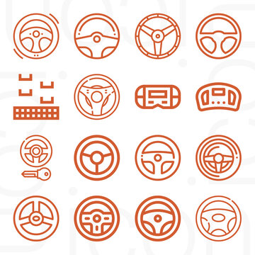 16 pack of celestial guidance  lineal web icons set