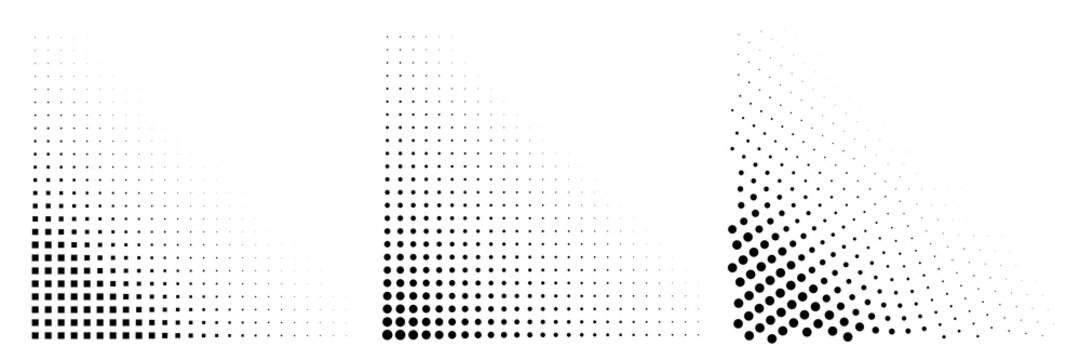 Dot Background, Halftone Texture, Gradient Dots Pattern