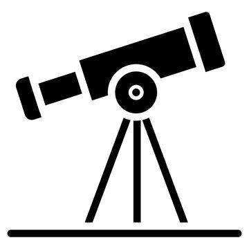 Icon of telescope, solid design