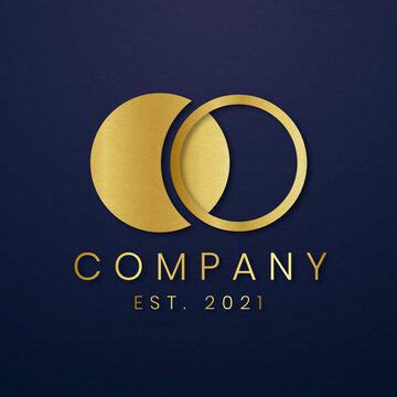 Luxury business logo vector gold icon
