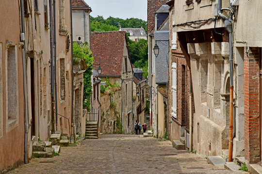 Chateaudun; France - june 30 2019: the old city centre