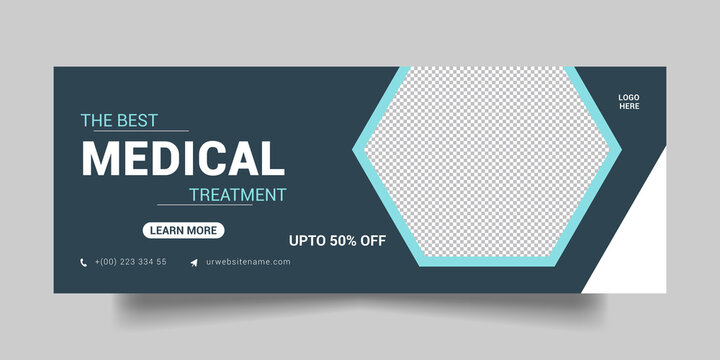 Medical Treatment Health Care, Facebook Cover and Social Media Post.