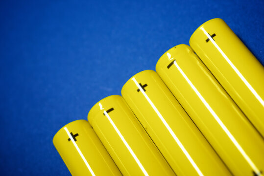 Small batteries close-up