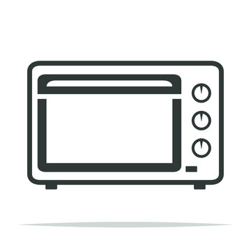 Electric oven icon vector isolated illustration