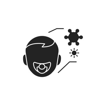 Children colds line color icon. Sign for web page, mobile app