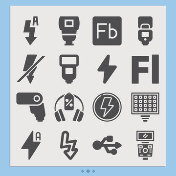 Simple set of cheap related filled icons.