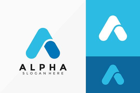 Letter A Alpha Logo Design. Creative Idea logos designs Vector illustration template