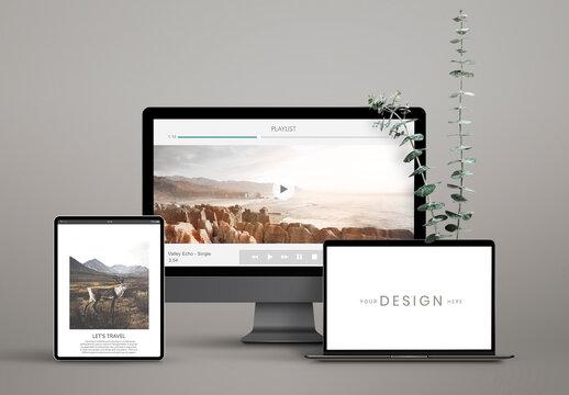 Digital Device Screen Mockups Design