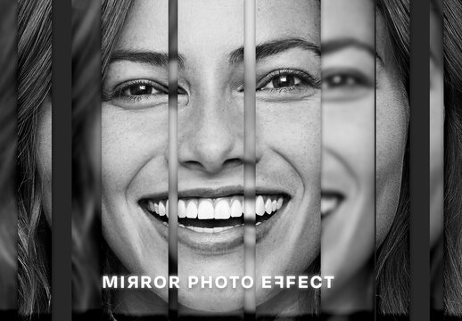 Mirror Photo Effect Mockup