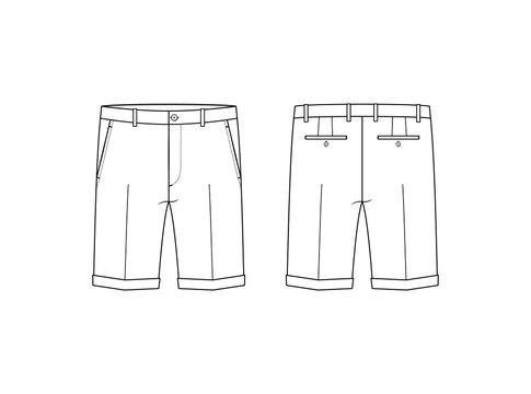 Men's Chino Shorts - Front & Back