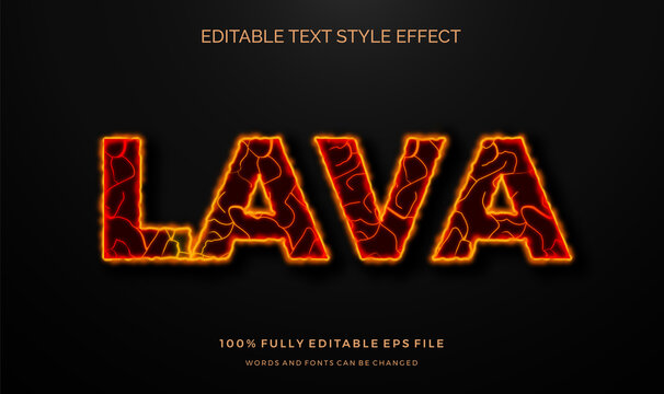 hot lava editable text style effect