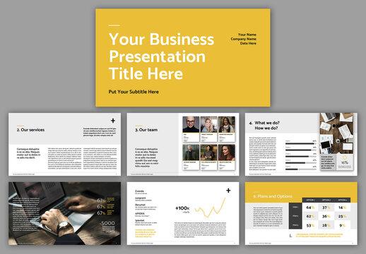 Business Proposal Presentation Layout
