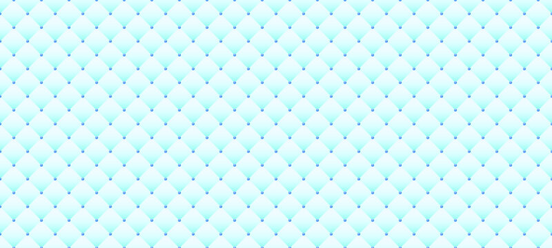 Luxury light blue background in retro style with blue beads. Seamless vector illustration. Upholstery background.