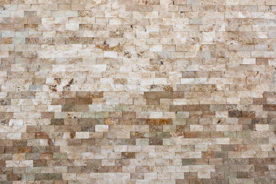 Brick different shades of brown and beige masonry texture