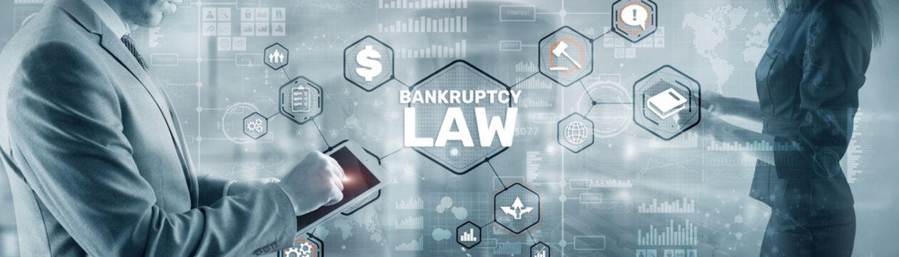 Judicial decision lawyer business concept. Bankruptcy law concept.