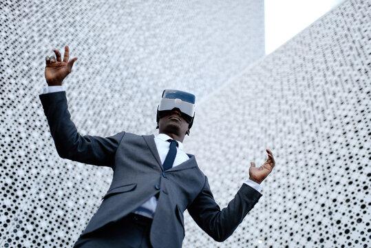 Businessman got stuck in 3d world