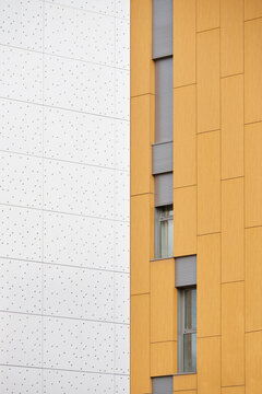 Yellow and white building pattern.