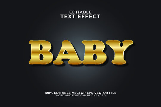 Baby  text effect illustration