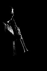 Clarinet player classical musicians isolated