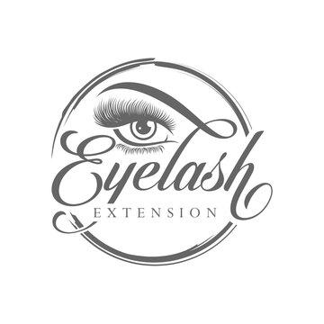 Luxury Beauty Eye Lashes Logo Vector Template