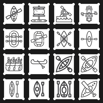 16 pack of harding  lineal web icons set