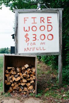 Roadside Firewood for Sale