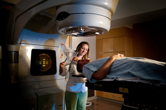 Brain Cancer Medical Radiation Therapy Treatment at Hospital