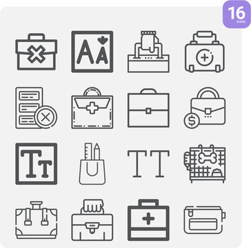 Simple set of dismissed related lineal icons.