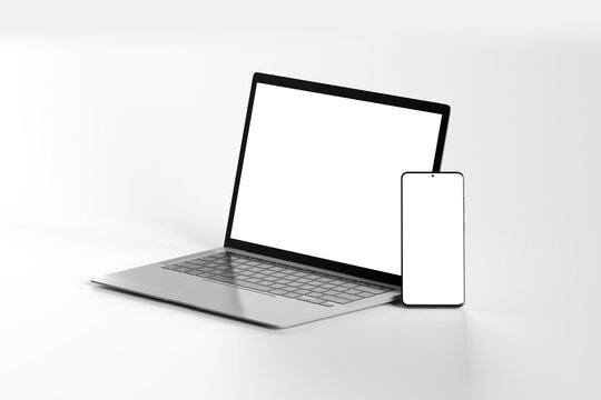 Isolated Devices Mockup - 3d rendering.