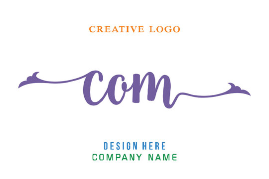COM lettering logo is simple, easy to understand and authoritative