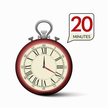 20 Minutes Stopwatch - Vector Clock - Time Measurement
