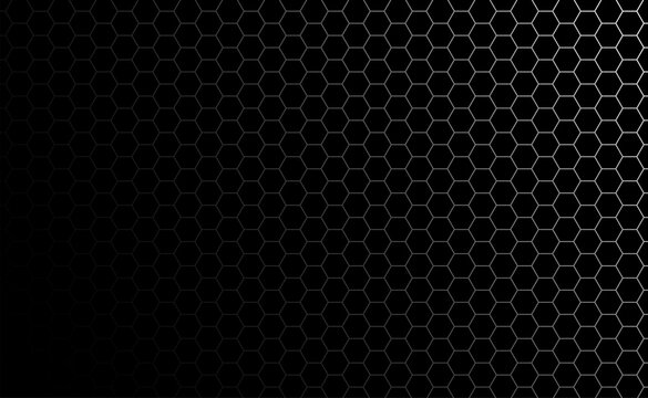 Hexagon bee hive pattern seamless dark background vector.