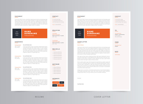 Clean and Professional Resume/CV Template Design