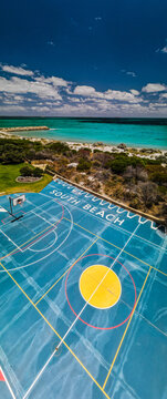 South beach basketball court!
