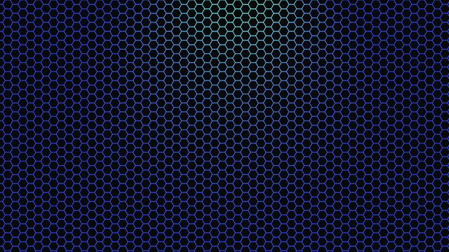 Blue Light and Black Hexagons Hd background illustration
