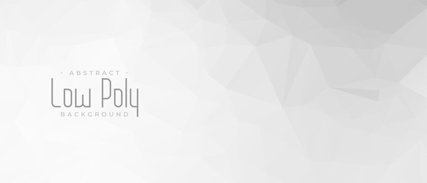 elegant gray low poly abstract geometric banner design