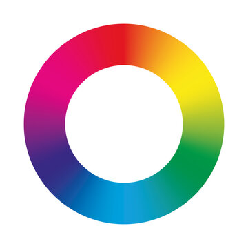Vector color circle