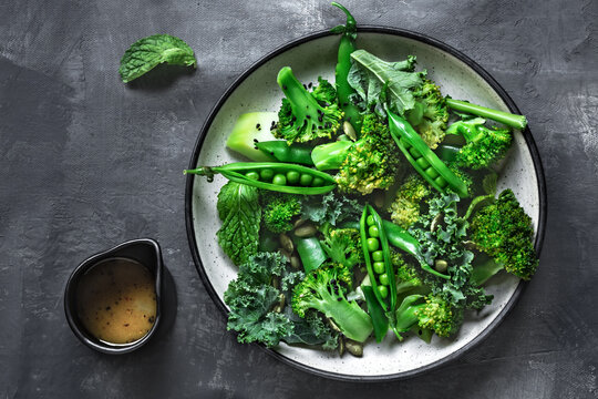 Broccoli Kale and Peas Salad with Pumpkin seed and Black Sesame seed