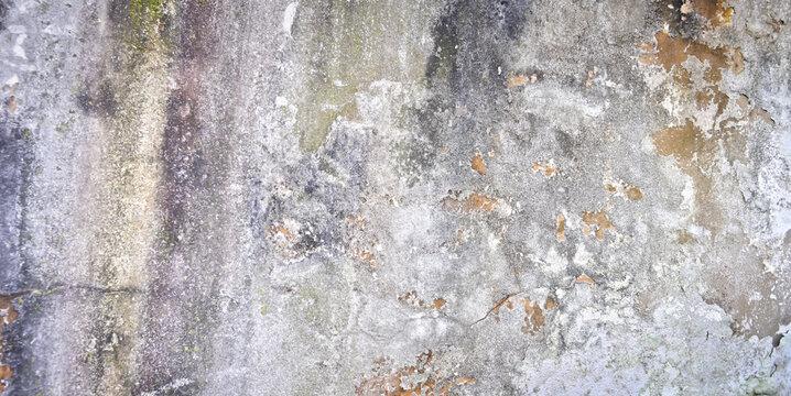 Alter verwitterter Putz an einer Wand