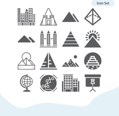 Obraz Simple set of unesco related filled icons. - fototapety do salonu